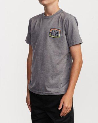 3 Boy's Flip Corpo T-Shirt Grey B401URFL RVCA