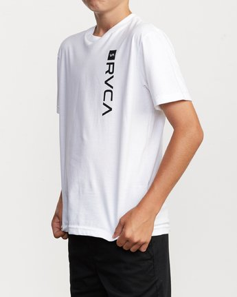 3 Boy's RVCA Box T-Shirt White B401VRBO RVCA