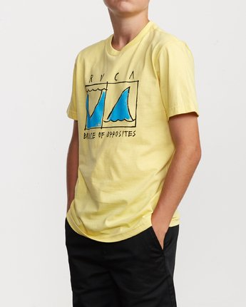 2 Boy's Horton Finner T-Shirt Yellow B401VRFI RVCA