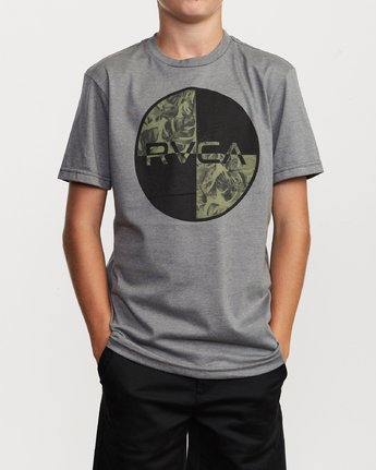 1 Boy's Motors Mix T-Shirt Grey B401VRMM RVCA