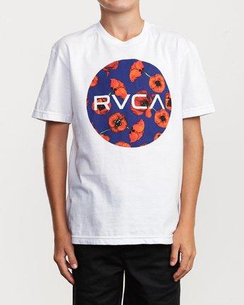 1 Boy's Motors Mix T-Shirt White B401VRMM RVCA