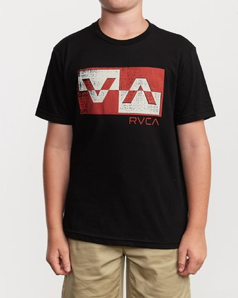 1 Boy's Random Box T-Shirt Black B401VRRB RVCA