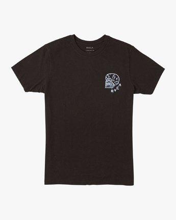 0 Boy's DMOTE Roller Skull T-Shirt Black B401VRRS RVCA