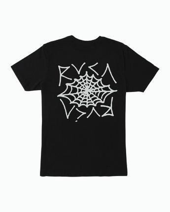0 Boy's Cobbwebs T-Shirt Black B401WRCO RVCA