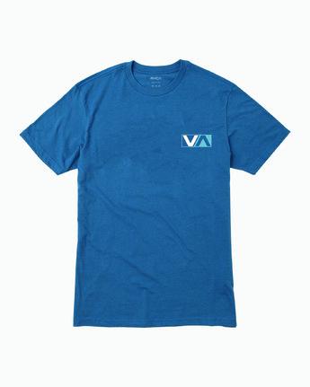 1 Boy's Lateral T-Shirt Blue B401WRLA RVCA