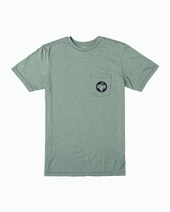 1 Boy's RVCA Serpent T-Shirt Green B401WRRS RVCA