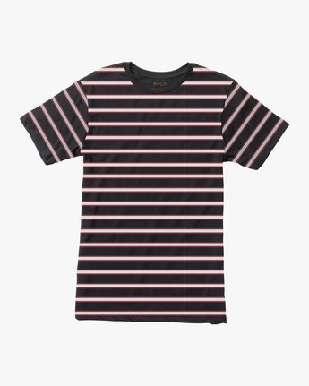 0 Boy's Brong Stripe T-Shirt Black B406SRBR RVCA