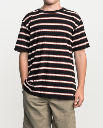 1 Boy's Brong Stripe T-Shirt Black B406SRBR RVCA