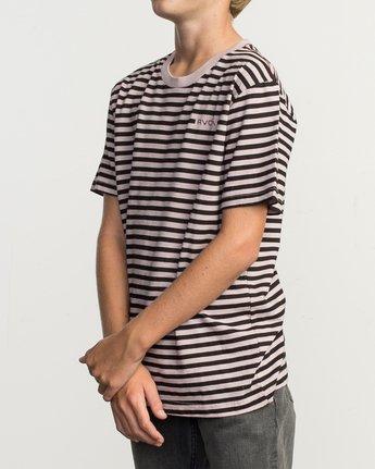 2 Boy's House Stripe T-Shirt Pink B406TRHO RVCA