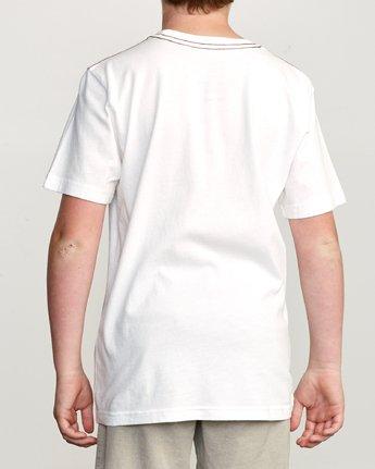 3 Boy's Balance T-Shirt White B406URBA RVCA