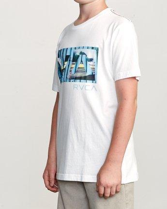 2 Boy's Balance T-Shirt White B406URBA RVCA