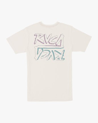 0 Boy's Offset T-Shirt White B406UROF RVCA