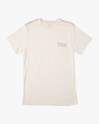 1 Boy's Offset T-Shirt White B406UROF RVCA