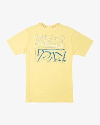 0 Boy's Offset T-Shirt Yellow B406UROF RVCA