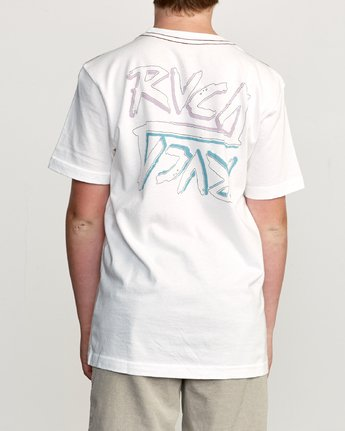 4 Boy's Offset T-Shirt White B406UROF RVCA