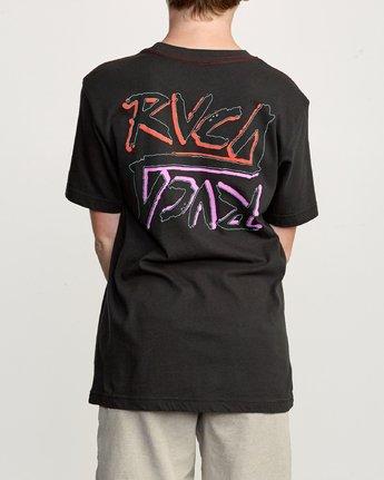 4 Boy's Offset T-Shirt Black B406UROF RVCA
