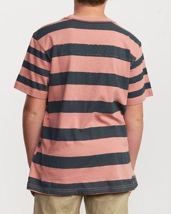 3 Boy's Copy Stripe T-Shirt Pink B406VRCO RVCA