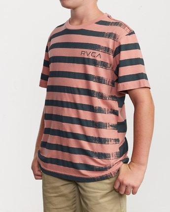 2 Boy's Copy Stripe T-Shirt Pink B406VRCO RVCA