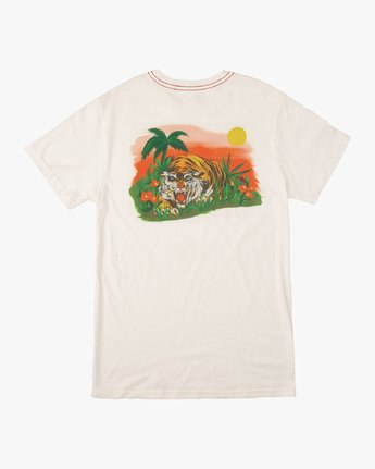 0 Boy's Grisancich Jungle T-Shirt White B406VRJU RVCA