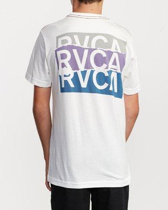 4 Boy's Overlap T-Shirt White B406VROV RVCA