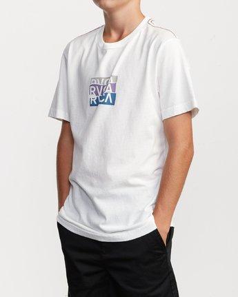 3 Boy's Overlap T-Shirt White B406VROV RVCA