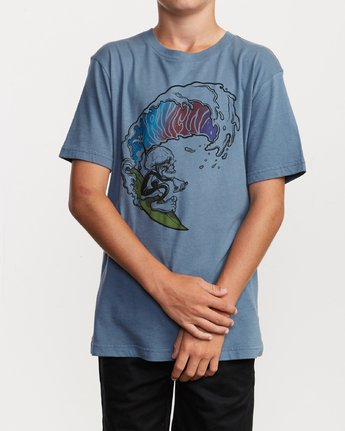 1 Boy's Tube Screamers T-Shirt Blue B406VRTS RVCA