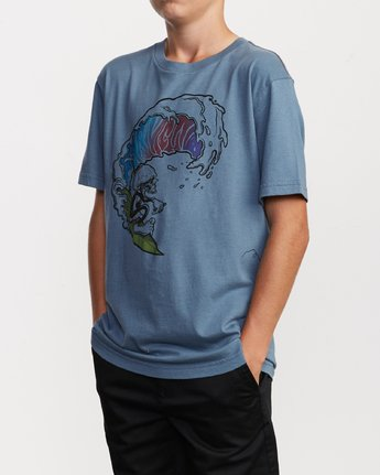 2 Boy's Tube Screamers T-Shirt Blue B406VRTS RVCA