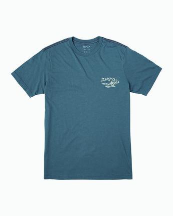 1 Boy's Castaway T-Shirt Red B406WRCA RVCA