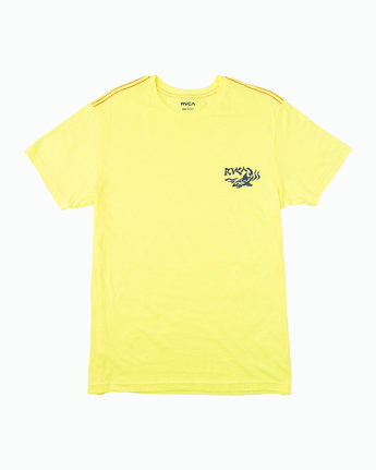 1 Boy's Castaway T-Shirt Yellow B406WRCA RVCA