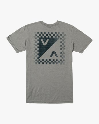 0 Boy's Check Mate T-Shirt Grey B407VRCH RVCA