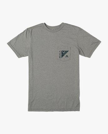 1 Boy's Check Mate T-Shirt Grey B407VRCH RVCA