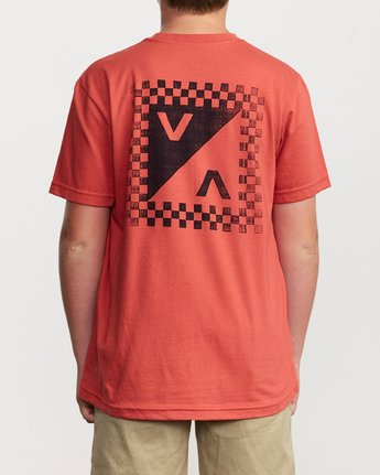 4 Boy's Check Mate T-Shirt Grey B407VRCH RVCA