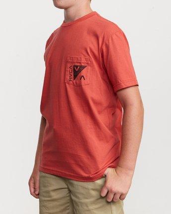 3 Boy's Check Mate T-Shirt  B407VRCH RVCA