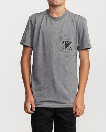2 Boy's Check Mate T-Shirt Green B407VRCH RVCA