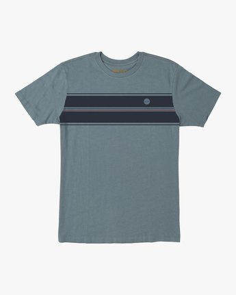 0 Boy's Motors Stripe T-Shirt Blue B409SRMO RVCA