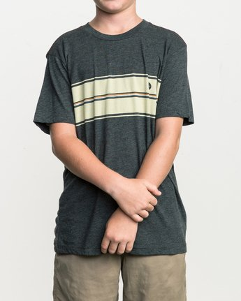 1 Boy's Motors Stripe T-Shirt  B409SRMO RVCA