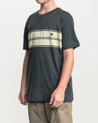 2 Boy's Motors Stripe T-Shirt  B409SRMO RVCA