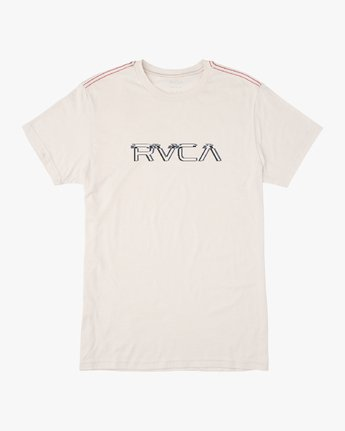 0 Boy's Big Glitch T-Shirt White B409VRBG RVCA