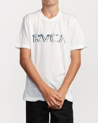 1 Boy's Big Glitch T-Shirt White B409VRBG RVCA