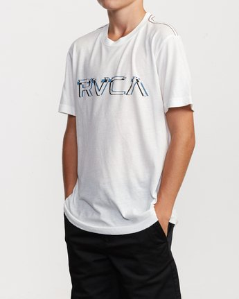 2 Boy's Big Glitch T-Shirt White B409VRBG RVCA