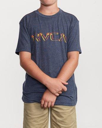 1 Boy's Big Glitch T-Shirt Blue B409VRBG RVCA