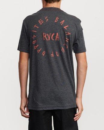 4 Boy's Hortonsphere T-Shirt Black B409VRHO RVCA