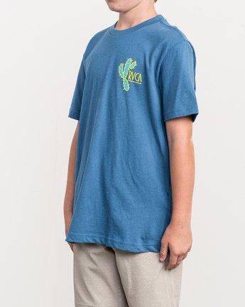 3 Boy's Spiked T-Shirt Blue B410QRSP RVCA