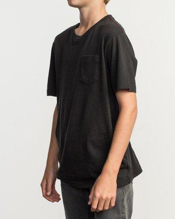 2 Boy's PTC Standard Wash T-Shirt Black B412TRPT RVCA