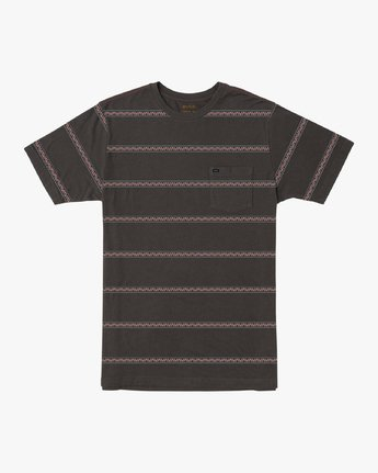 0 Boy's Retro VA Striped Pocket T-Shirt Black B412URRV RVCA