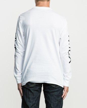 3 Boy's Big RVCA Long Sleeve T-Shirt White B451SRBI RVCA