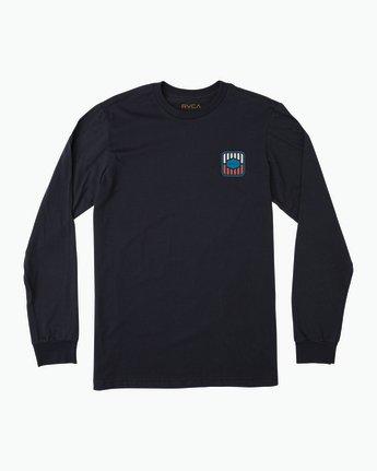 1 Boy's Milton Long Sleeve T-Shirt Blue B451SRMI RVCA