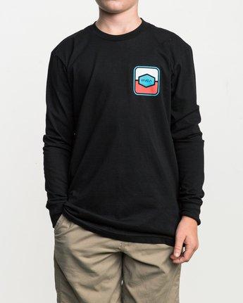 1 Boy's Milton Long Sleeve T-Shirt  B451SRMI RVCA