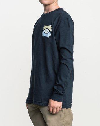 3 Boy's Milton Long Sleeve T-Shirt Blue B451SRMI RVCA