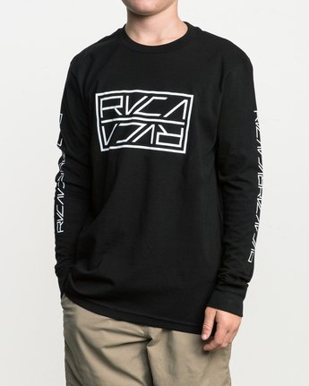 2 Boy's Reflector Long Sleeve T-Shirt  B451SRRE RVCA